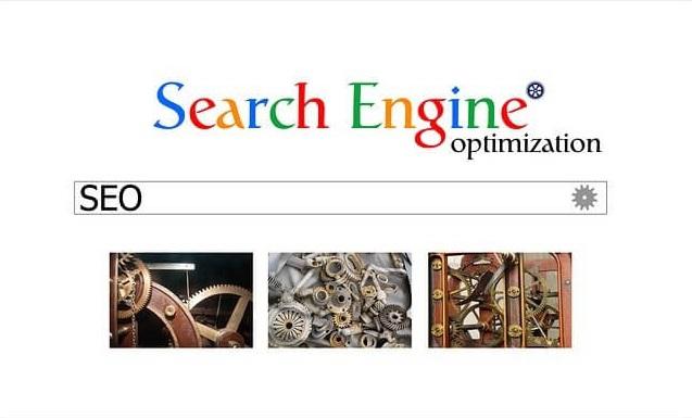 Eine Suchmaschine wird graphisch dargestellt